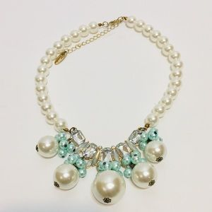 Plunder Pearl And Bling Necklace.